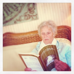 My grandma reading