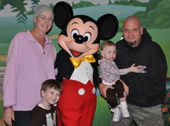 DeCourcey Family with Mickey at the Legacy Retreat