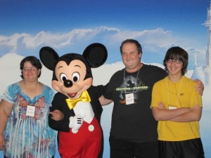 Fields Family with Mickey