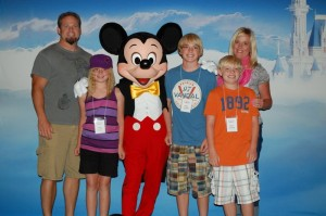 Graham Family with Mickey