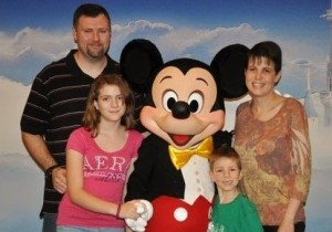 Blevins Family with Mickey at Legacy Retreat