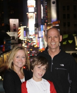 The Hull Family Arrives in Times Square