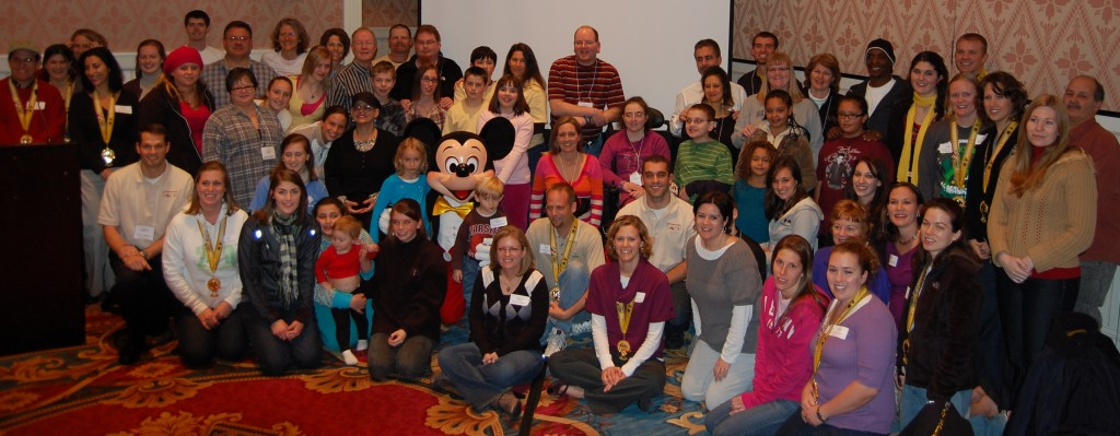 Families and runners at the 2010 Disney Retreat