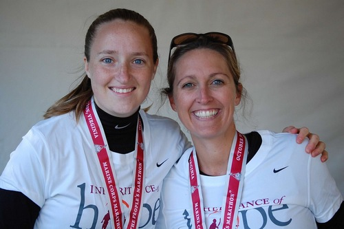 Rebecca with Family Legacy Director Jill after the Marine Corps Marathon
