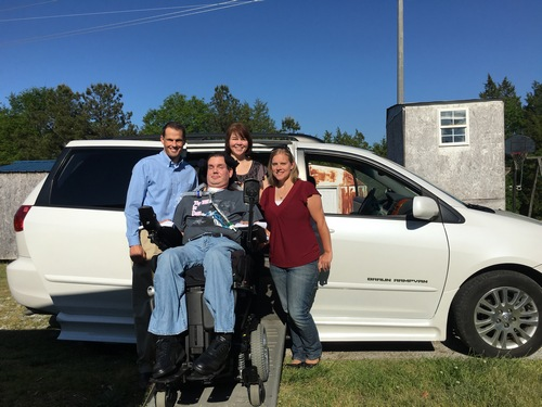 IoH Co-Founder & CEO Deric Milligan, Craig Loner, Dana Loner, and Heather Crawford with the Mobility Van