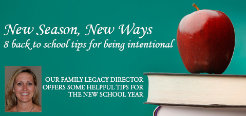 8 Back to School Tips for Being Intentional