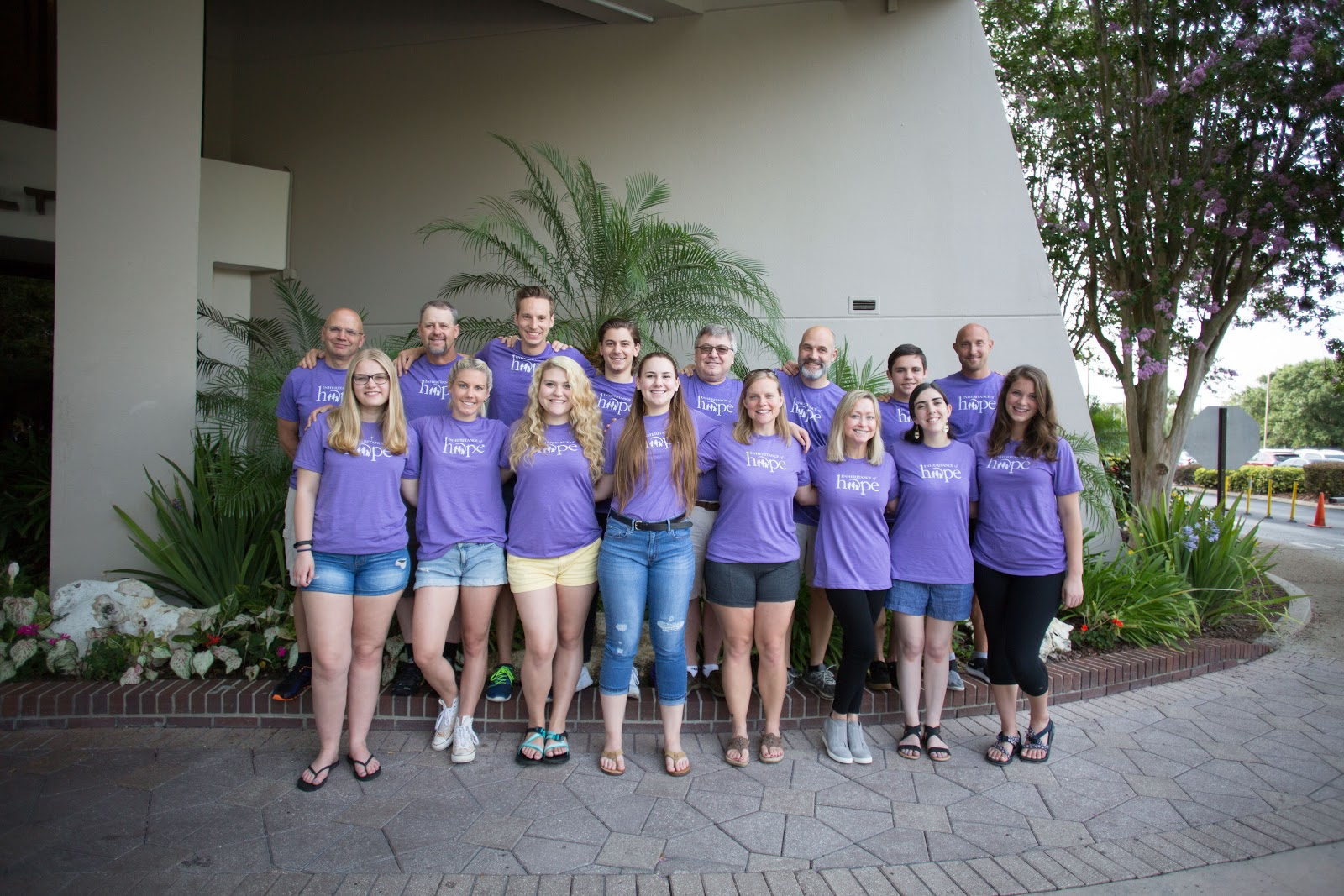 Past families served who returned as volunteers at the Orlando Legacy Retreat in May 2018