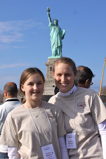 Kristen and Ashlea serving on an Inheritance of Hope Legacy Retreat in NYC