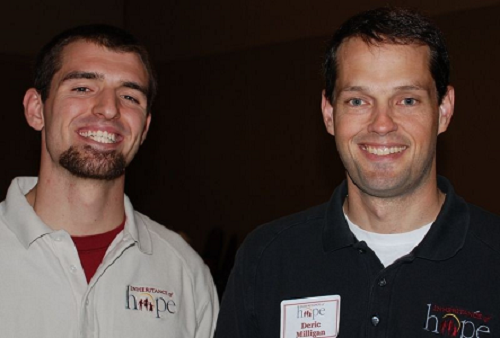 Aaron with Co-Founder & CEO Deric Milligan at a Legacy Retreat in 2009