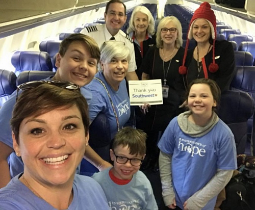 Inheritance of Hope families are welcomed on Southwest.