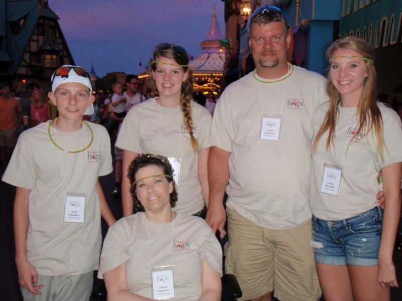 Tayler and her family making memories at Disney on their Orlando Legacy Retreat®