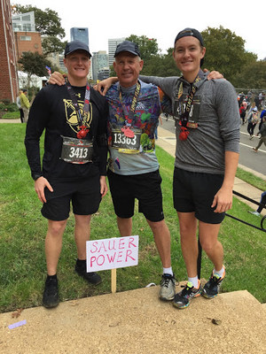 Bob and his sons at the 2018 Marine Corps Marathon