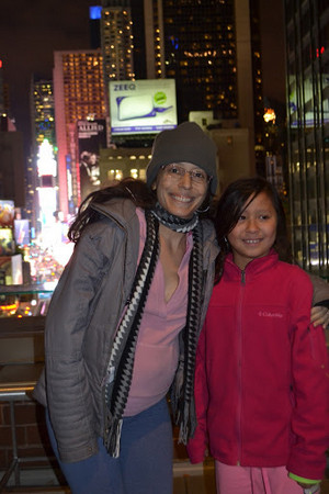 Cris and Karina in Times Square
