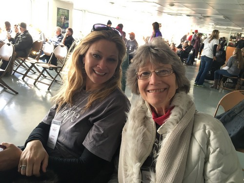 Donna and her mother, Martha, serving in NYC