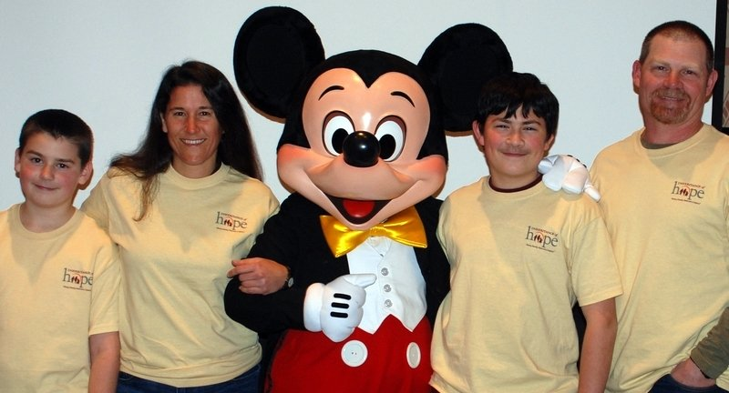 The Broyles family meeting Disney World's most famous resident!